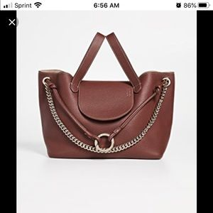 Meli Melo Medium Leather Linked Thela inArgan $700